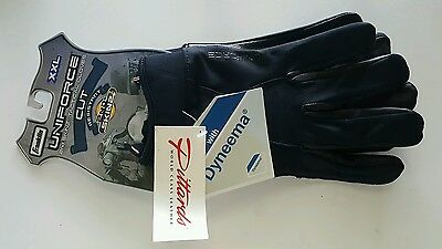 Franklin Uniforce 2nd Skinz Tactical Gloves Cut Dyneema Black Leather Size XXL