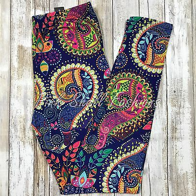 NWT Brilliant Paisley Leggings Buttery Soft One Size