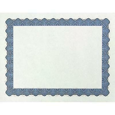"Great Papers! Metallic Blue Border Certificate, 8.5""x 11"", 100 Count (934400)"