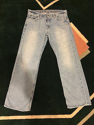 American Eagle Men's Low Rise Straight 32x30 Distressed Jeans