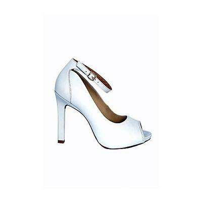 New Haven White formal women's high heel Shoes Stiletto Brazilian Leather