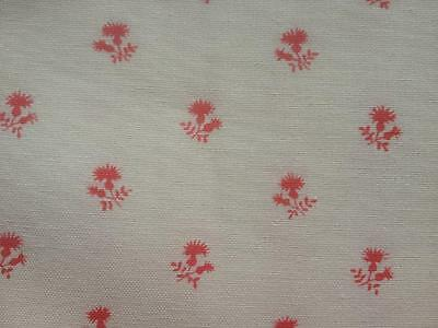 Vintage Colefax & Fowler Fabric' Thistle' Salmon Pink on Cream