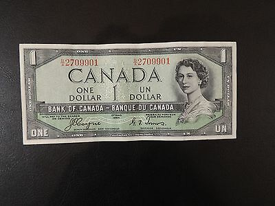 Canada (901), 1954, $1 Dollar (Devil's Hairdo), Coyne/Towers, P66a. Very Crisp.