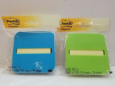 2---NIP Post-it Pop-up Note Dispenser (OL-330-MX), 50 POP-UP SHEETS INCLUDED