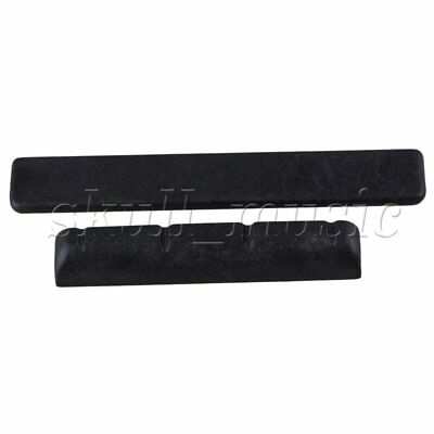 38x5x6.2/53x3x8mm Black BQLZR Slotted Nut & Saddle for 4 String Ukulele Guitar