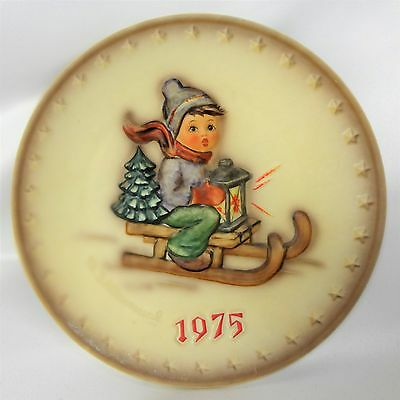 "1975 Goebel Hummel 5th Annual Collectors Plate #268 ""Ride Into Christmas"" TMK-5"