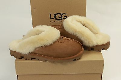 AUTHENTIC NEW UGG Australia Womens 7 COQUETTE CHESTNUT BROWN CHE SLIPPERS CLOGS