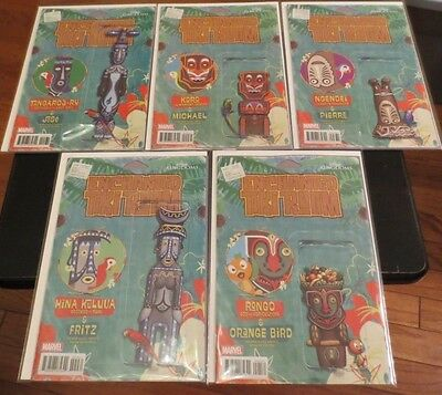 Enchanted Tiki Room Comic Set 1,2,3,4,5 Birds case fresh Disney Action Figure