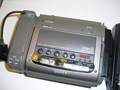 SONY EVO-220 8mm Player Recorder with power supply charger