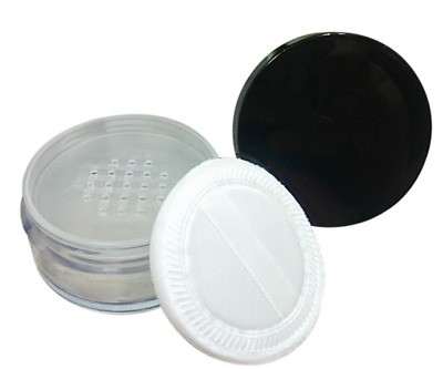 Large Refillable Empty Plastic Cosmetic Sifter Jar Container 50g Loose Powder UK