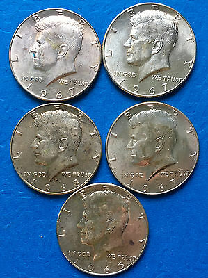 40% Silver Kennedy Half Dollars 10 COINS MS+