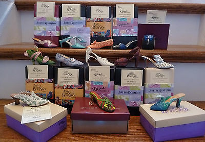 Just The Right Shoe Collection, lot of 12, + Club Pin & 1 Purse w/Boxes & C.O.A.