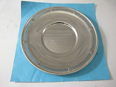 Antique Tiffany&co Sterling Silver Reticulated Serving Platter