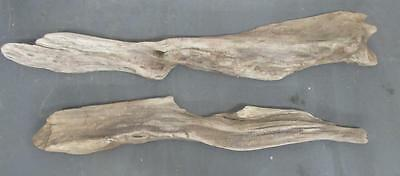 "Lot of 2 Large Flat Driftwood Pieces For Signs 2""-3"" x 29""-33"" SBL2-2"