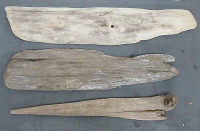"Lot of 3 Large Flat Driftwood Pieces For Signs 2""-3.5"" x 26""-33"" SBL3-1"