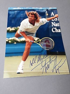 ANDRE AGASSI Tennis-Legende In-person signed Foto 20x27 Autogramm
