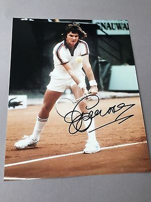 JIMMY CONNORS Tennis-Legende In-person signed Foto 20x25 Autogramm Rar!