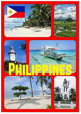 Philippines - Souvenir Novelty Fridge Magnet - Sights / Towns - New - Gifts