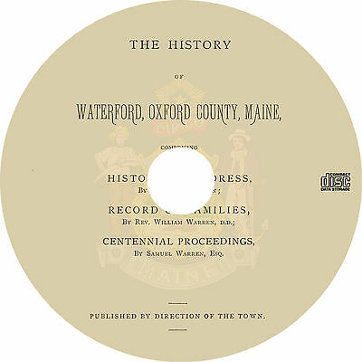 Waterford, Oxford County, Maine (1879) MA History Genealogy Biography - Book CD