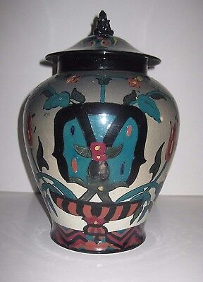 Collectable Royal Cauldon CairoWare Lidded Temple Vase