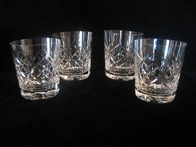 Tudor Crystal GLENGARRY Whisky Tumblers Set of 4