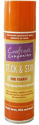 Crafter's Companion Stick and Stay For Fabrics - Permanent Fusible Adhesive,