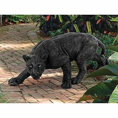 Black Panther Garden Statue Sculpture Panthers Statues Yard Decor Wild Animals