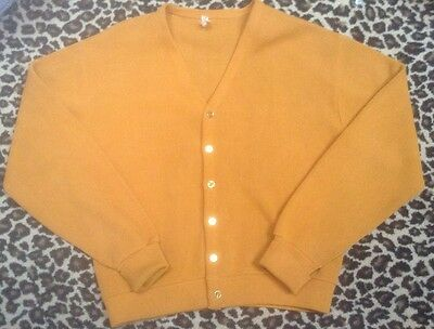 Vintage 60's Brent Montgomery Ward Mens  Large Cardigan Sweater Rockabilly