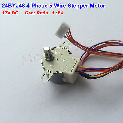 Micro 24BYJ48 Gear Stepper Motor DC 12V 4 Phase 5 wire Mini Reduction Motor