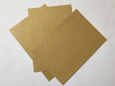 SELF ADHESIVE KRAFT PAPER-3xA4 SHEETS-BROWN STICKERS-BLANK/LABELS-PRINT-STICKY