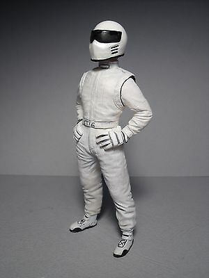Figurine  1/18  White Stig  Top Gear  Vroom  Unpainted   For  Spark   Gt  Spirit
