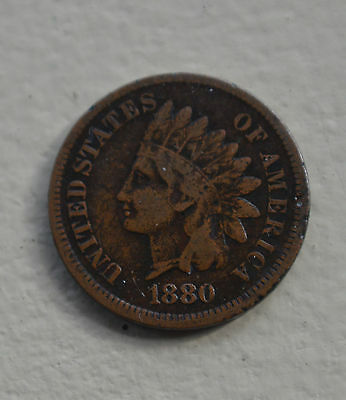 1880 INDIAN HEAD CENT,VERY NICE COIN. free shipping