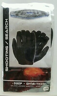 Damascus D20P Dyna Thin Unlined Black Leather Police Search Shooting Gloves S