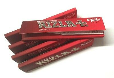 RIZLA KING SIZE RED PAPER SLIM Roll Your Own RYO Cigarette Thin ROLLING PAPERS