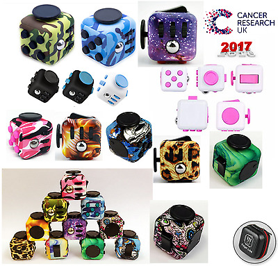 UK Fidget Cube Stress Anxiety Relief ADD ADHD 2017 ACTUAL UK SELLER!! B.2.G.1.F