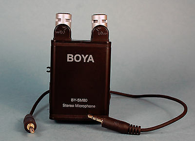 Boya BY-SM80 Stereo Microphone for Camcorder, DSLR w/warranty SM 80