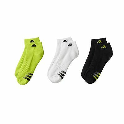 Adidas Youth Boys Cushioned Climalite Stain Resistant Low Cut  Socks Size 3Y-9