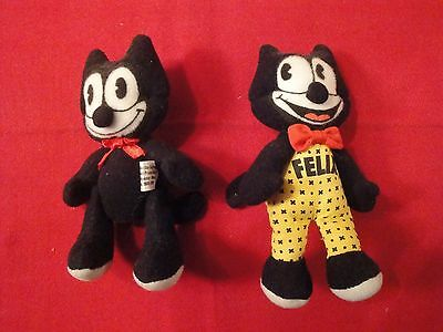 Vintage (2) Felix The Cat Plush Dolls by Determined Productions, Inc.