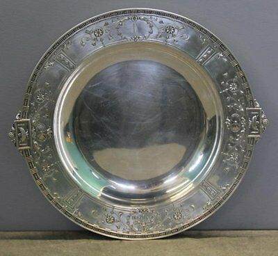 """Antique Gorham / Bailey Banks & Biddle Round Sterling Silver Serving Tray 14"""""""