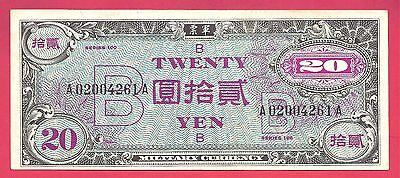 Japan 1945 (ND) Allied Military Currency 20 Yen P-73