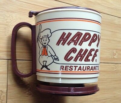 Rare Vintage Whirley Travel Coffee Cup Mug Happy Chef Restaurants
