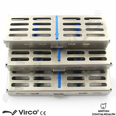 3 X Sterilization Cassette Rack Tray Hold 5,7 & 10 Dental Surgical Autoclave CE