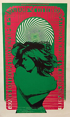 James Cotton / MC5 Grande Ballroom poster - autographed by artist Carl Lundgren