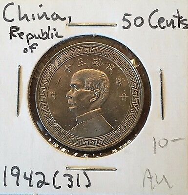 Republic of China 50 Cents, Yr 31, (1942)