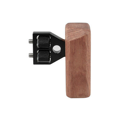 DSLR Wood Wooden Handle Stabilizer right Grip Mount Support Fr DV Video Cage Rig
