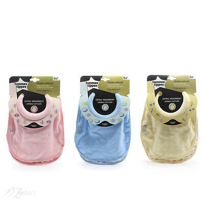 46353020 for Girls Tommee Tippee Closer To Nature 2-Pack Milk Feeding Bibs 0m