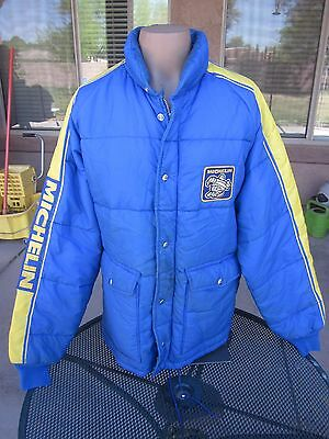 VTG Michelin Tires Rally, Race Padded Team Jacket w Patches, 1970s?