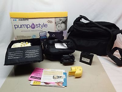 Medela Pump In Style Advanced Double Breastpump W/ Go Tote~ Works Read Condition