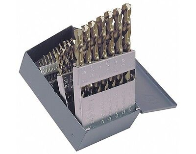 Cobalt Drill Bit Set High Quality 1/16-1/2 True 8% Solid Cobalt 29 Piece Set