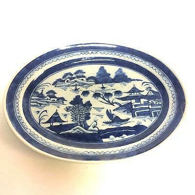"Small Chinese Porcelain Canton Platter 9.5"" wide."